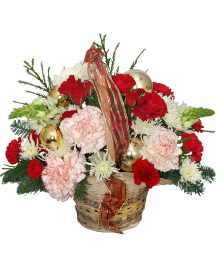 Heart warming holiday flower basket in white plains md creative heart warming holiday flower basket mightylinksfo Choice Image