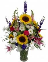 Heart Warming Sunshine  Vase