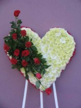 Heart with 1 dozen roses Wreaths, and Crosses