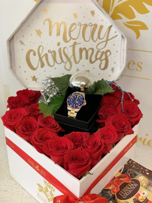 Heart with gift space Heart box in Harlingen, TX | Royalty Roses