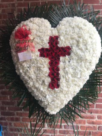 Heart with Red Cross break Funeral