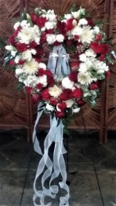Heart Wreath with Crystal Cross