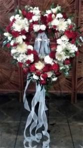 Heart Wreath with Crystal Cross