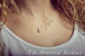 Heartbeat Necklace  Locally Made by Justicia