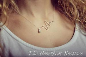 Heartbeat Necklace  Locally Made by Justicia in Bend, OR | AUTRY'S 4 SEASONS FLORIST