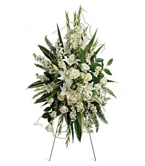 Heartfelt Condolences  Easel Spray in Prairie Grove, AR | FLOWERS-N-FRIENDS
