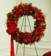 Heartfelt Condolences Wreath Arrangement