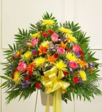 Heartfelt Sympathies Bright Standing Basket sympathy