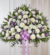 Heartfelt Sympathies Lavender & White Standing Ba Sympathy