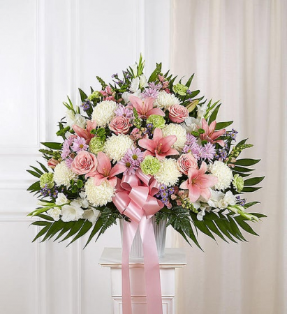 Heartfelt Sympathies - Pastel Funeral Flowers