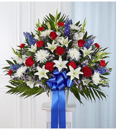 Heartfelt Sympathies™ Patriotic Standing Basket Arrangement