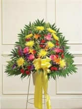 Heartfelt Sympathies Standing Basket - Bright Funeral