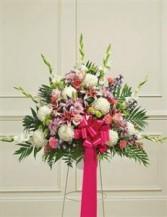 Heartfelt Sympathies Standing Basket - Pastel Funeral - Sympathy