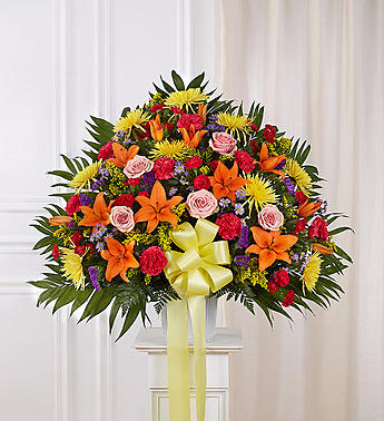 Heartfelt Sympathies™ Standing Basket- Bright