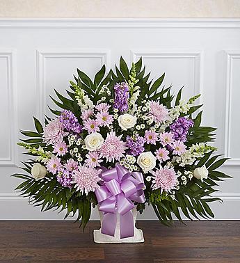 Heartfelt Tribute™ Floor Basket- Lavender & White