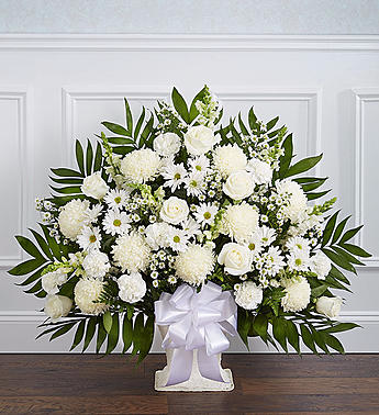 Heartfelt Tribute™ Floor Basket- White