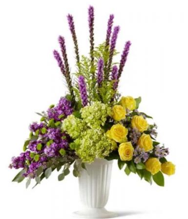 Heartfelt tribute  Funeral flowers
