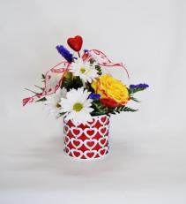 Hearts A Bloom Vase Arrangement