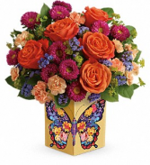 Hearts A-Flutter! Keepsake Cube Arrangement