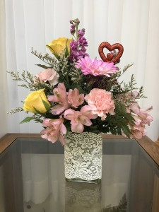 Hearts and Lace Bouquet Colors will vary - Mixed Spring in Berwick, LA   TOWN & COUNTRY FLORIST & GIFTS, INC.