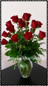 Premium Rose's  18 DELUXE PREMIUM RED ROSES WITH FILLERS