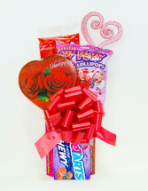 Hearts Candy Bouquet  Valentine's Day
