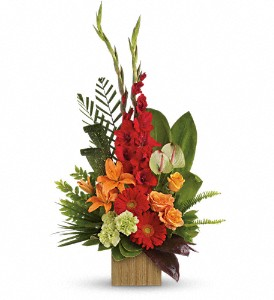 Heart's Companion Arrangement in Bryan, OH | Farrell's Lawn & Garden and Flowers
