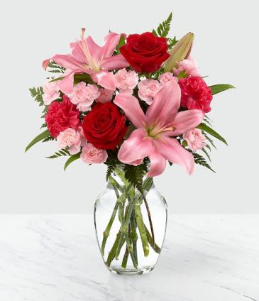Heart's Emotion Vase Arrangement