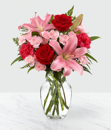 Heart's Emotion Vase Arrangement