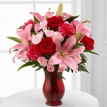 Hearts Emotions Bouquet Vased Arrangement