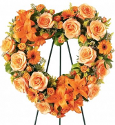 Funeral Heart Wreath Hearts Eternal Delivery Fort Worth
