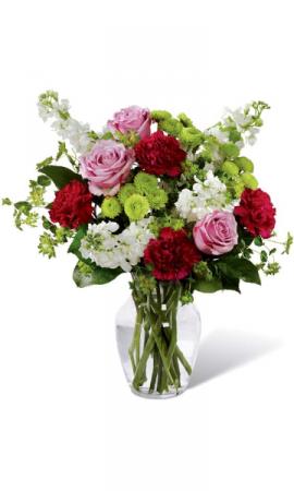 Hearts Expression Bouquet Vase Arrangement