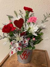 Hearts Floral Arrangement