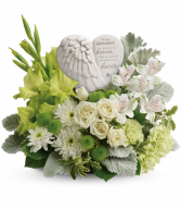 Hearts In Heaven Bouquet One-Sided Floral Arrangement