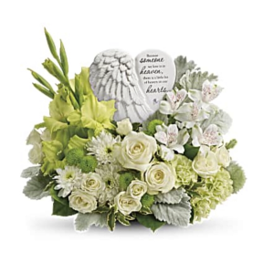 Hearts In Heaven Bouquet  Sympathy  in Thibodaux, LA | BEAUTIFUL BLOOMS BY ASIA