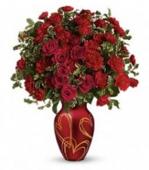 Hearts of Gold Vase Arrangement