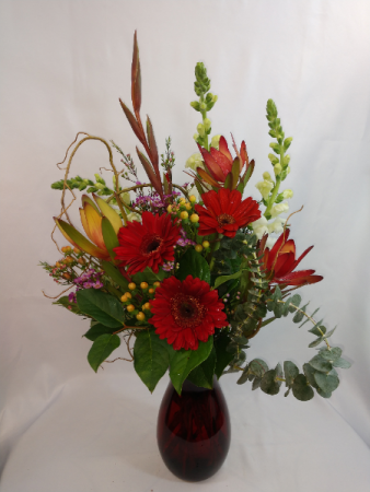 Hearts on Fire Vase Arrangement