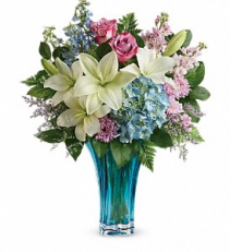 Heart's Pirouette Bouquet     TEV55-1 Floral Keepsake Arrangement
