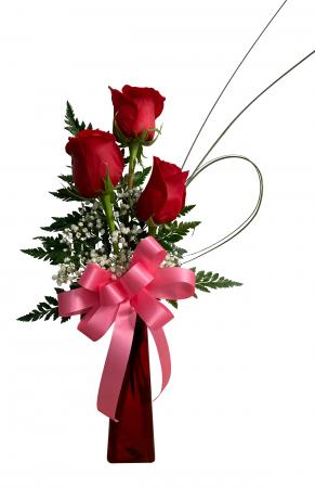 Tres Amor Rose Vase