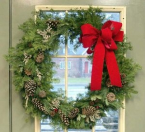 Hearty Balsam Wreath Holiday Decor. in North Adams, MA | MOUNT WILLIAMS GREENHOUSES INC
