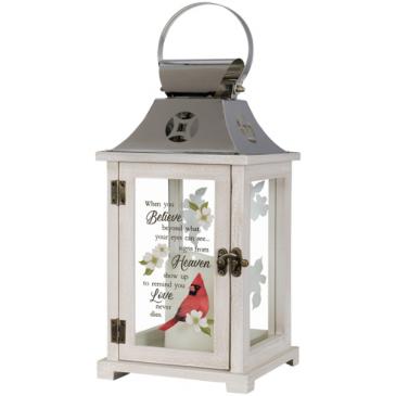 """Heaven"" Cardinal Memorial Lantern Lantern"