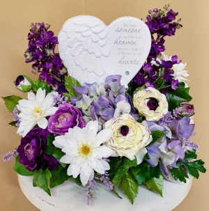 Heaven In Our Heart Silk Arrangement in Springfield, IL | FLOWERS BY MARY LOU INC