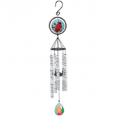 """Heaven in our Home Cardinal Stained Glass Windchime 35"""""""
