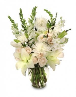 Heavenly Aura Flower Arrangement in Pawnee, OK | Petals & Stems