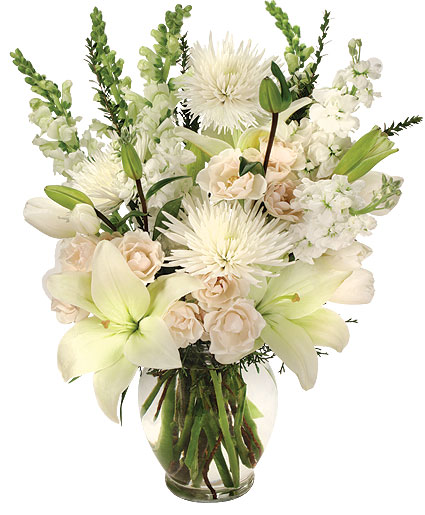 Heavenly Aura Flower Arrangement In La Porte In Kaber Floral Co