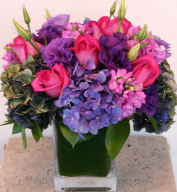 HEAVEN PURPLE AND PINK ELEGANT MIXTURE OF FLOWERS