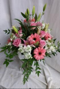 Heaven Scent  Fresh Vased Arrangement