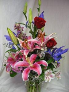 Fragrant Beauty Stargazer lilies in Lincoln, NE | BURTON & TYRRELL'S / OAK CREEK PLANTS & FLOWERS