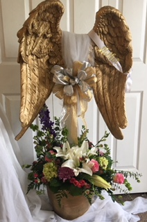 Heavenly Angel call for rental and pricing funeral, memorial tribute in Waterbury, CT | GRAHAM'S FLORIST
