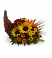 Heavenly Cornucopia All-Around Floral Arrangement